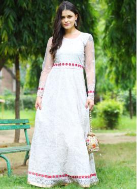Incredible Net Floor Length Anarkali Suit
