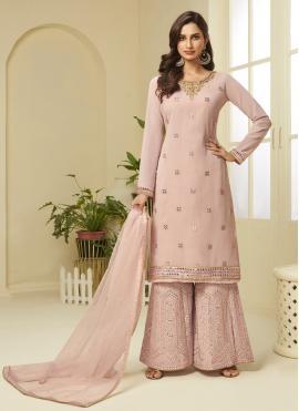 Incredible Pink Festival Designer Palazzo Suit