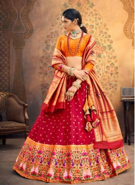 Incredible Red Fancy Lehenga Choli