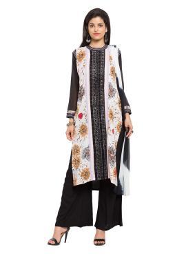 Integral Cotton Printed Multi Colour Readymade Salwar Kameez
