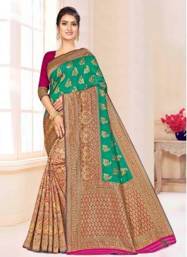 Intricate Banarasi Silk Bollywood Saree