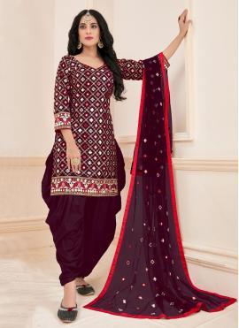 Intricate Cotton Designer Patiala Suit