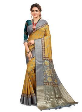 Intricate South Cotton Printed Saree