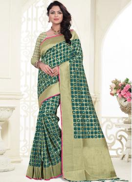 Intriguing Banarasi Silk Ceremonial Designer Saree