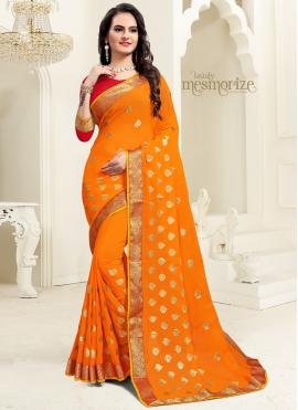Intriguing Georgette Party Classic Saree