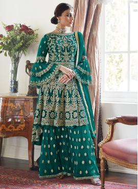 Invaluable Net Festival Designer Palazzo Salwar Suit
