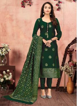 Irresistible Green Churidar Suit