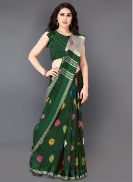 Jazzy Cotton Green Classic Saree