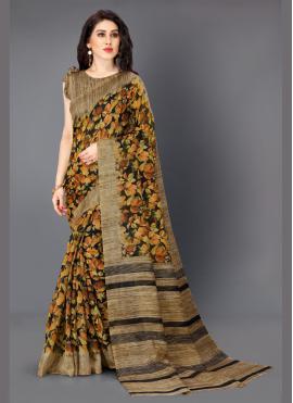 Khadi Silk Multi Colour Printed Bollywood Saree