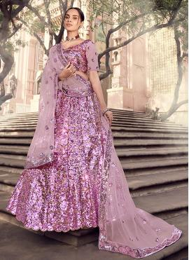 Lavender Engagement Lehenga Choli