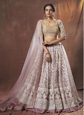 Lavender Net Thread Lehenga Choli