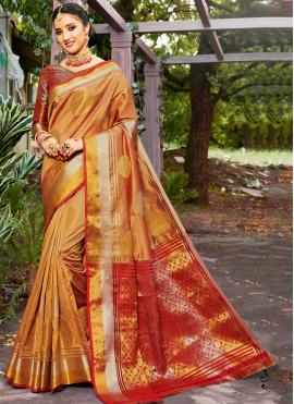 Lavish Yellow Banarasi Silk Traditional Saree