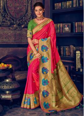 Lively Silk Ceremonial Classic Designer Saree
