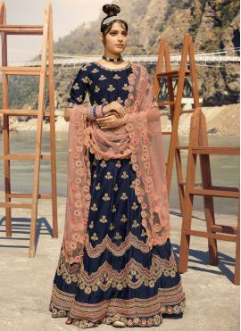 Lively Thread Banarasi Silk Lehenga Choli