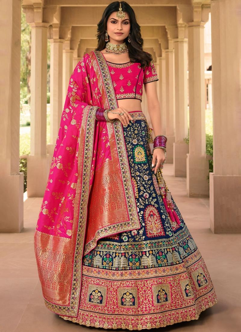 Lovable Banarasi Silk Zari Bollywood Lehenga Choli