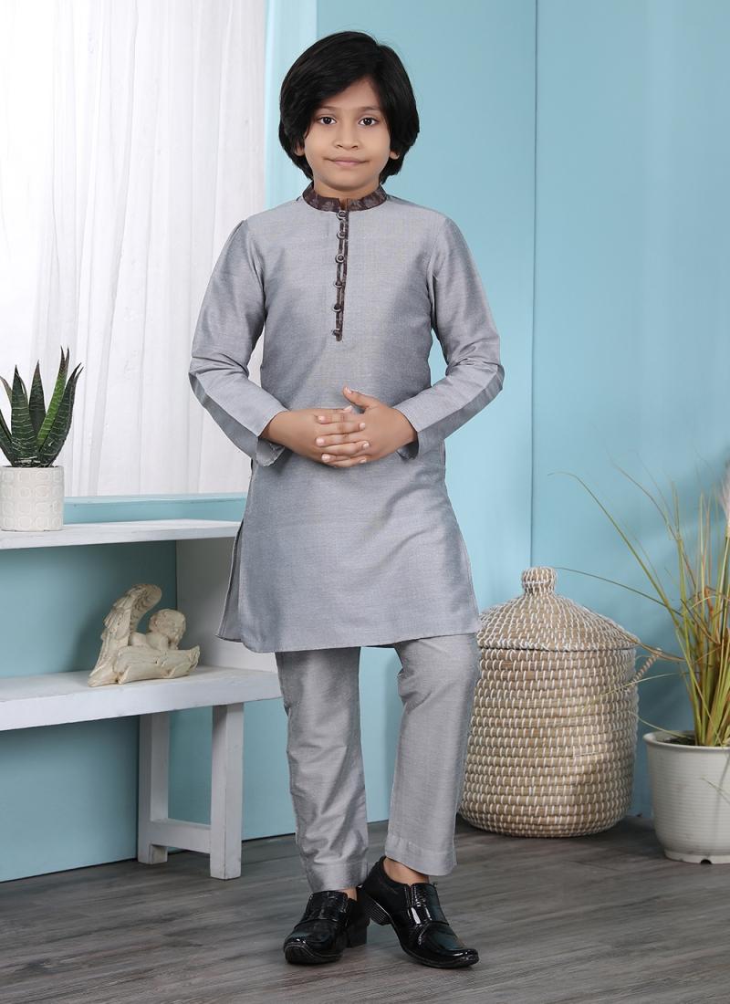 Lovable Cotton Silk Plain Kurta Pyjama