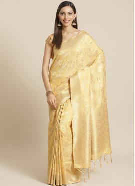 Lovable Weaving Gold Designer Saree