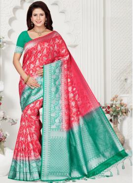 Lovable Weaving Silk Contemporary Saree