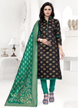 Lovely Banarasi Silk Ceremonial Churidar Salwar Suit
