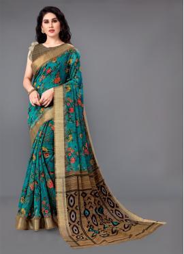 Lovely Cotton Zari Trendy Saree