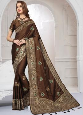 Lovely Embroidered Classic Saree