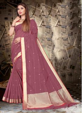 Magenta Festival Silk Trendy Saree