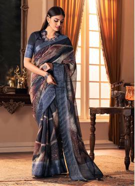 Magnificent Printed Multi Colour Traditional Designer Saree
