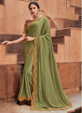 Majestic Silk Green Classic Saree