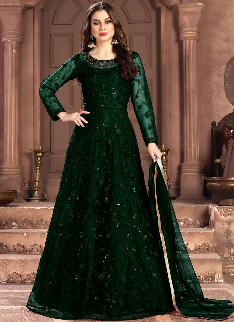 Majesty Green Salwar Suit
