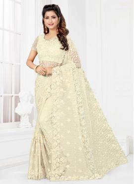 Majesty Net Embroidered Classic Saree