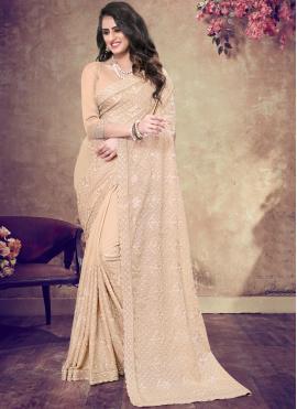 Majesty Peach Classic Designer Saree