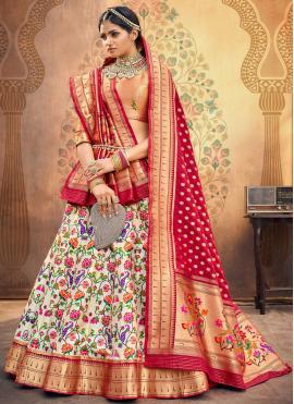 Majesty Silk Multi Colour Fancy Lehenga Choli