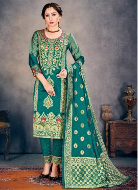 Majesty Teal Ceremonial Pant Style Suit