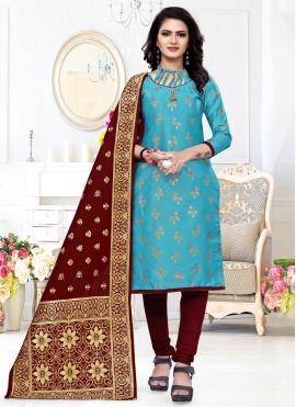Majesty Weaving Festival Churidar Designer Suit