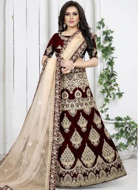 Maroon Embroidered Trendy Designer Lehenga Choli