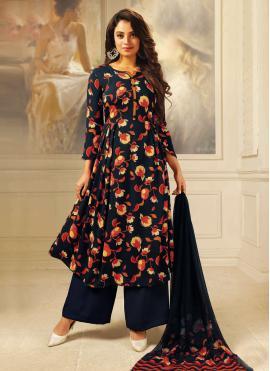 Marvelous Multi Colour Festival Designer Palazzo Suit