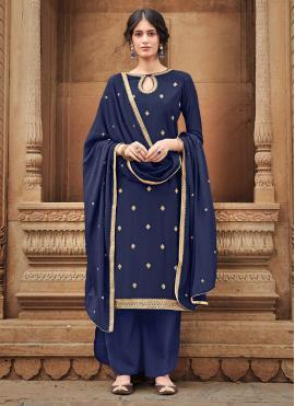 Marvelous Silk Embroidered Trendy Salwar Kameez