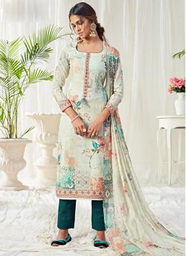 Masterly Cotton Digital Print Multi Colour Trendy Straight Salwar Suit