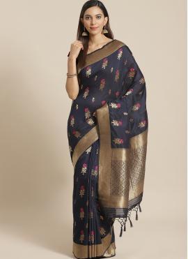 Masterly Navy Blue Festival Traditional Designer Saree