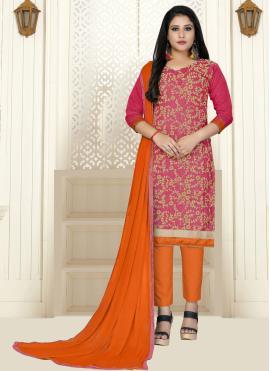 Masterly Pink Party Straight Salwar Kameez