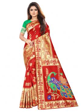 Masterly Red Traditional Saree