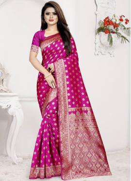Mesmeric Art Silk Ceremonial Traditional Designer Saree