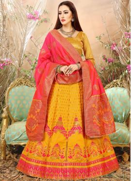 Mesmeric Art Silk Wedding Lehenga Choli