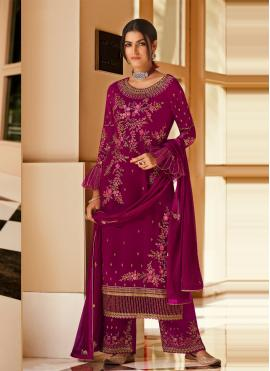 Miraculous Embroidered Ceremonial Designer Pakistani Salwar Suit