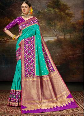 Miraculous Rama Banarasi Silk Silk Saree