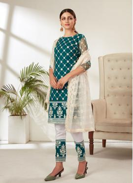 Miraculous Rama Embroidered Pant Style Suit