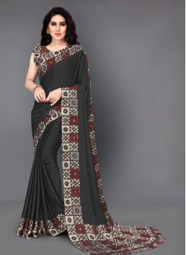 Mod Printed Silk Trendy Saree