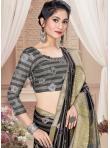 Mod Tussar Silk Digital Print Grey Printed Saree - 2