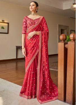 Modern Sequins Festival Classic Designer Saree