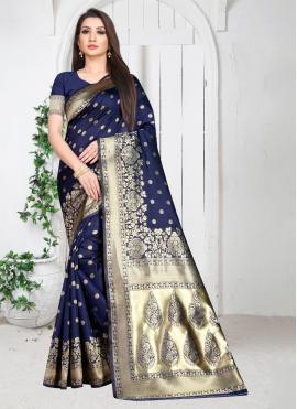 Modern Weaving Art Silk Casual Saree